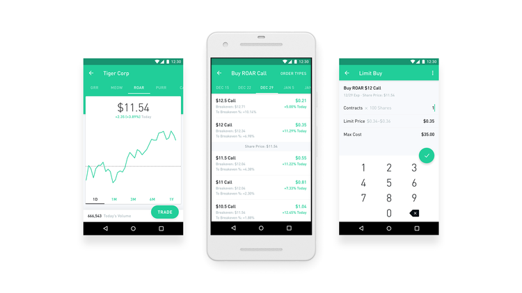 Stock options app